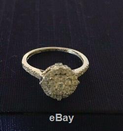 $1,600.43ct Authentic Disney Enchanted Cinderella Diamond & Blue Topaz Ring