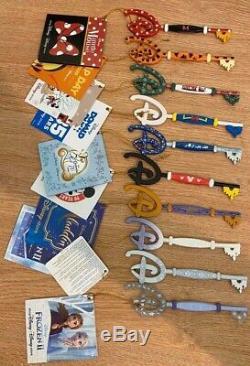 10 Disney Store Keys Tigger, Cinderella, Minnie, Frozen, Xmas, Mickey, Paris