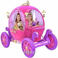 24V Disney Princess Carriage Ride-On Electric Cars Kids Ride On Toys Girls New