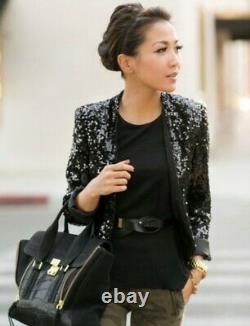 $3,800 NWT CHANEL 14a Twin Set Sequin GIFT BAG Jacket Cardigan 34 36 38 40 Top S