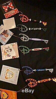 6 Disney Store Keys Tigger, Cinderella, Opening, Minnie, Frozen, Christmas