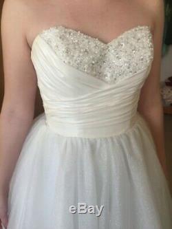 Alfred Angelo Disney's Cinderella wedding dress size 16w style 205
