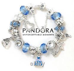 Authentic Pandora Bracelet Silver Disney Princess Cinderella European Charms New