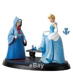 B1569 Cinderella & Fairy Cenerentola A Moment In Time Statua Enesco Disney