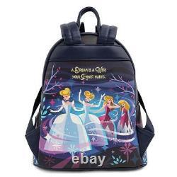 Brand New Disney Loungefly Cinderella Castle Series Mini Backpack & Wallet Set