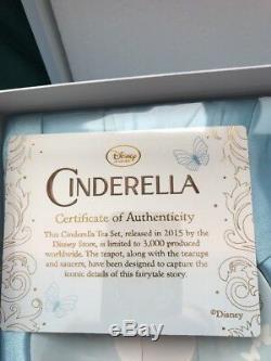 Cinderella princess Limited Edition Tea Set Live Action 3000 Disney store LE
