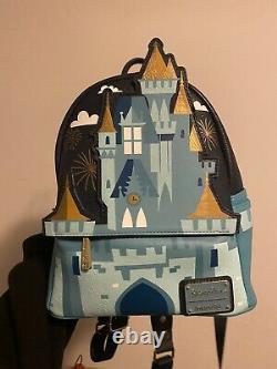 Cinderella's Walt Disney World Castle Loungefly Mini Backpack
