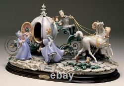 Cinderella with Coach Capodimonte Laurenz Disney C. O. A. Original Box