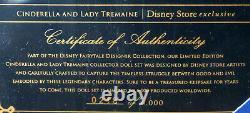 DISNEY DESIGNER FAIRYTALE CINDERELLA LADY TREMAINE Limited Edition DOLL SET NIB
