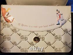 Danielle Nicole Disney Cinderella Gus Gus And Blue Birds Monogram Crossbody Bag