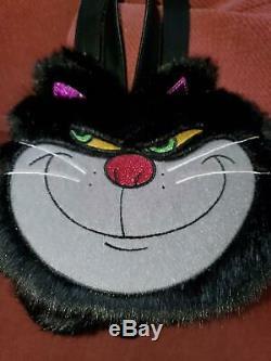 Danielle Nicole Disney Cinderella Lucifer Faux Fur Cat Backpack