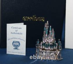 Disney Arribas CA2146 Small Jeweled Castle Figure Swarovski Crystals COA