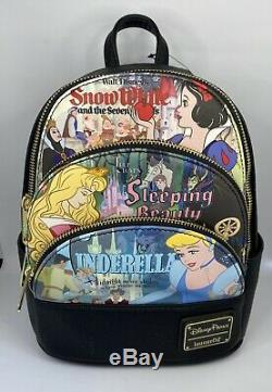 Disney Backpack Loungefly Aurora, Cinderella, Snow White