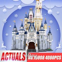 Disney Castle Cinderella Princess Castle City 4080 pcs Building Blocks Bricks