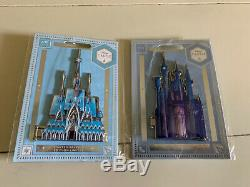 Disney Castle Collection LE Cinderella & Frozen Pin with Case & Completer Pin NR