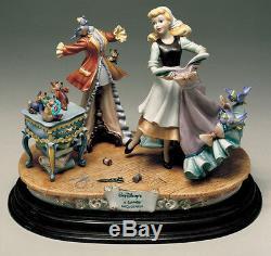 Disney Cinderella Dress Capodimonte Laurenz Figurine C. O. A. Original Box