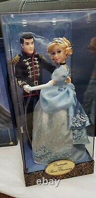 Disney Cinderella & Prince Charming Fairytale Designer Limited Dolls
