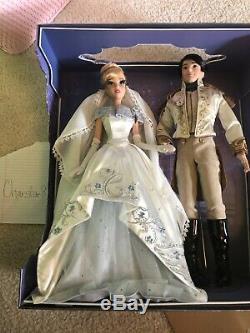 Disney Cinderella Prince Charming Wedding Platinum Limited Edition Doll Set