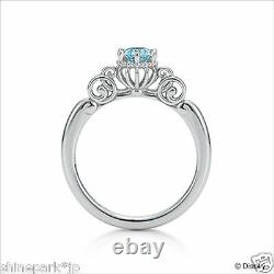 Disney Cinderella Silver Ring Fortunate Pumpkin Carriage Jewerly Limited