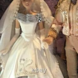 Disney Cinderella and Prince Limited Edition LIVE Platinum Doll Set