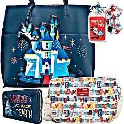 Disney Disneyland 65th Anniversary Tote Bag And Crossbody Bag Purse And Wallet