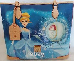 Disney Dooney & Bourke Cinderella Dream Big Princess Leather Shopper Tote Purse