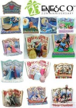 Disney Enesco Jim Shore Traditions Storybook Story book Cinderella Mulan NBC