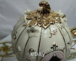 Disney Figur lenox Porzellan mit Gold 868804 Cinderella Kutsche
