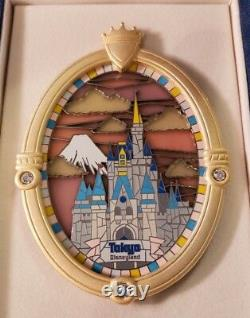 Disney LE 750 Cinderella Castle Window TDL Stained Glass Jumbo Boxed Pin 39335