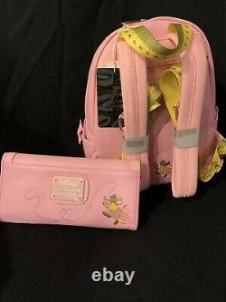Disney LOUNGEFLY Cinderella 70th Anniversary Mini Backpack & Wallet Set NWT