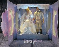 Disney Limited Edition Cinderella and Prince Charming Wedding Platinum Doll Set