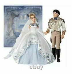 Disney Limited Edition Doll 600/ Cinderella Prince Charming Wedding Platinum Set