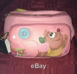 Disney Loungefly Cinderella Fanny Pack Gus Jaq Tape Measure Strap