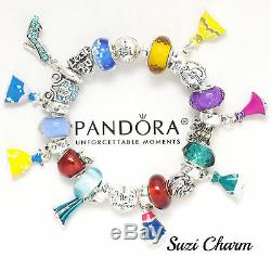 Disney Park Cinderella's Castle Bracelet Princess Dress Pandora Box New
