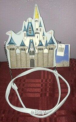 Disney Parks Cinderella Castle Danielle Nicole Crossbody Purse New