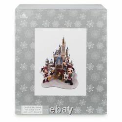 Disney Parks Cinderella Castle Figurine Christmas Holiday Mickey Minnie Pluto