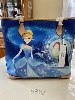 Disney Parks Dooney & Bourke Cinderella Dream Big Princess Shopper Tote-NEW