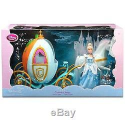 Disney Princess Cinderella 12 Doll and Big 16 Carriage Pumpkin 12 Horse NEW