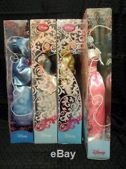 Disney Store 2010 Cinderella Prince Fairy Godmother Wardrobe & Friends Doll Set