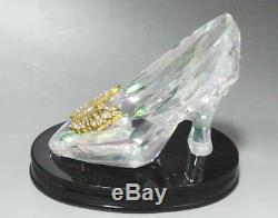 Disney Store 2015 Cinderella Glass Shoes Swarovski Ripper World 500 limited