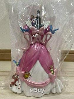 Disney Store Cinderella 70th Anniversary Pink Dress Figure Accessory Stand