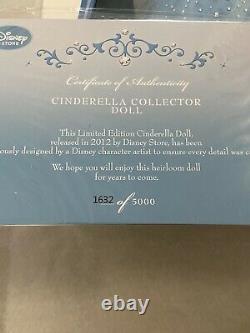 Disney Store Cinderella Limited Edition Doll 17 LE 5000 Animated Movie NIB NEW