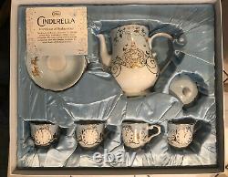 Disney Store Cinderella Princess Limited Edition Tea Set Live Action COA NIB