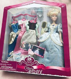 Disney Store Cinderella Wardrobe Four Dresses RARE Doll Set