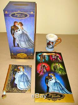 Disney Store Fairytale Cinderella & Prince Doll Limited Edition 6000 & Diary/mug