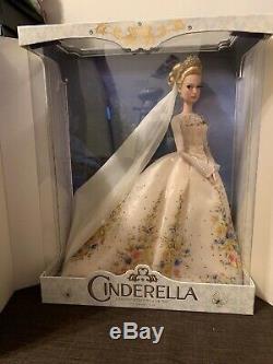 Disney Store Limited Edition Platinum Cinderella Wedding 17 Doll LE 500