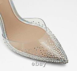 Disney X Aldo Cinderella Glassslipper High Heel Clear Embellished Size 5-10 NIB