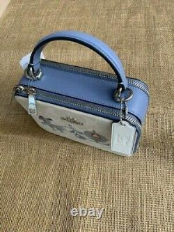 Disney X COACH Box Crossbody Signature Canvas with Cinderella Sold Out NWT