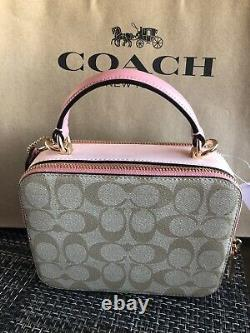 Disney X Coach Box Crossbody Cinderella Patches FREE Shipping NEW with Tags