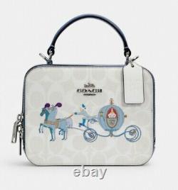 Disney X Coach Box Crossbody In Signature Canvas Cinderella NWT #C1426
